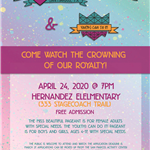 2020 Pageant flyer April 24, 2020 at Hernandez Elementary School