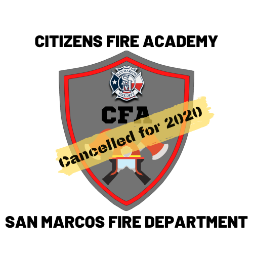 2020 Cancelled SMFD CITIZENS FIRE ACADEMY LOGO