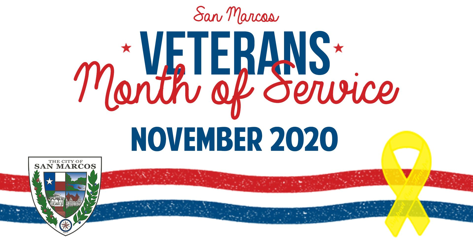 San Marcos Veterans Month of Service November 2020
