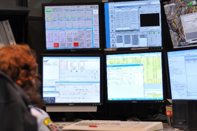 Emergency Communications Officer Mary Rodemyer at Her Workstation