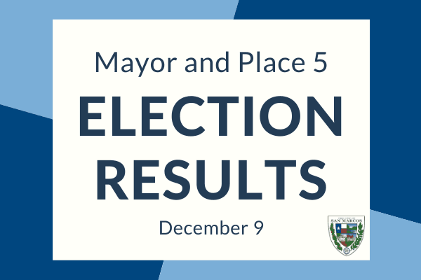 Mayor and Place 5 Election Results
