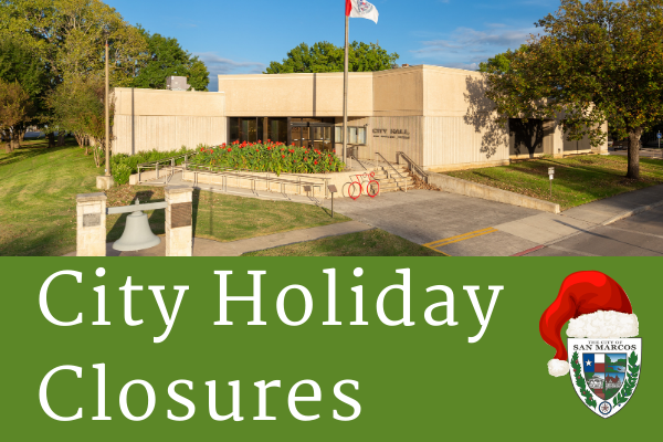 City Facilities Closed until January 12