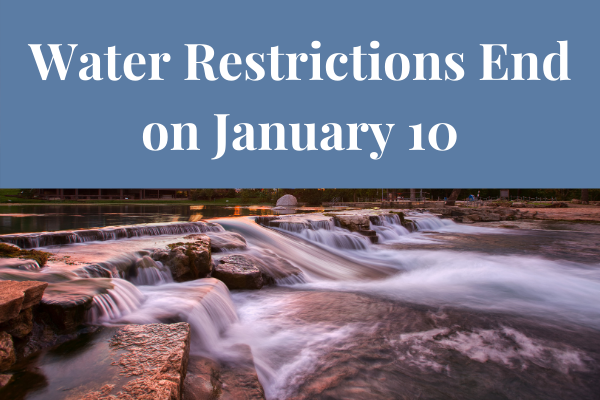 Water Restrictions End on January 10