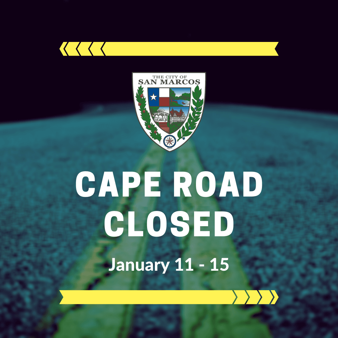 Cape Road Closed Jan. 11 through Jan. 15