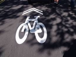 Bicycle Lane on a Road