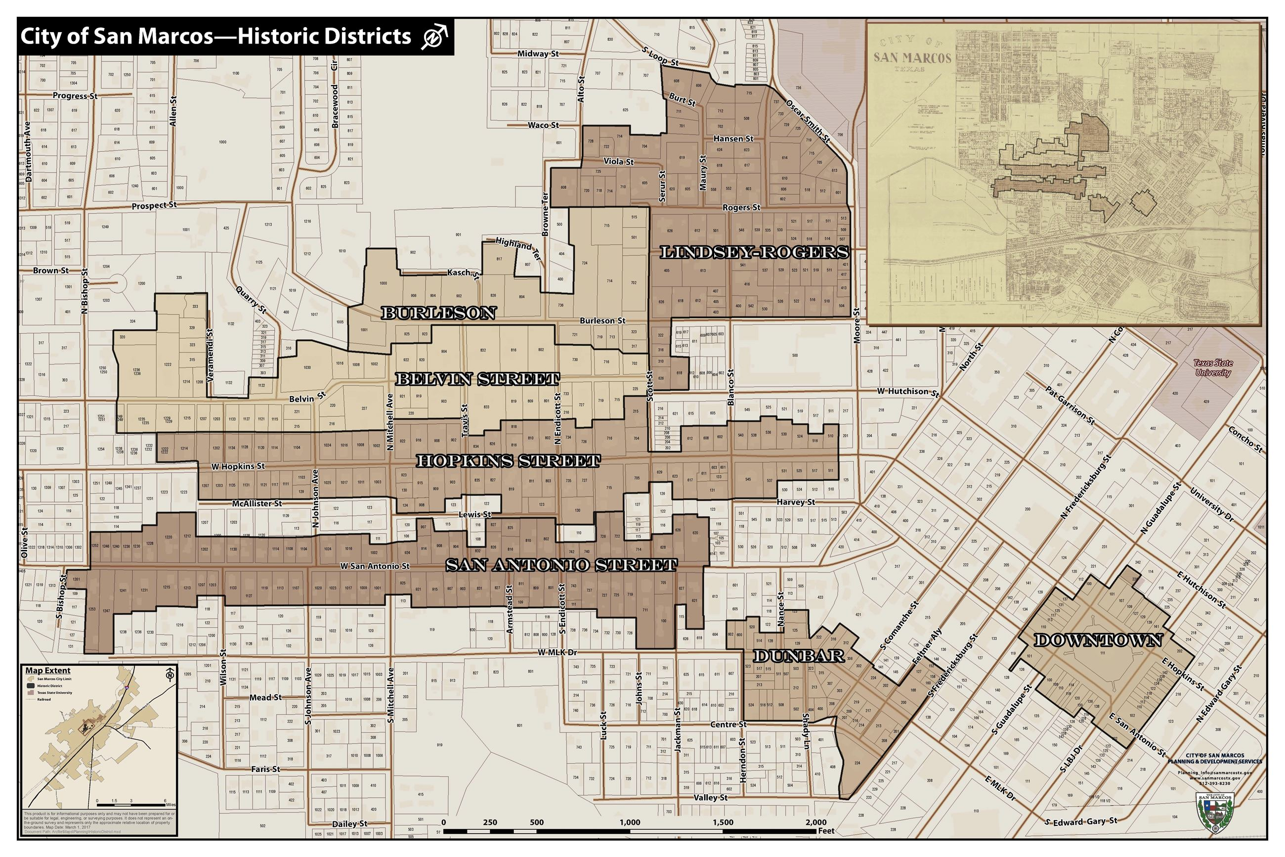 Historic Districts Map 2017