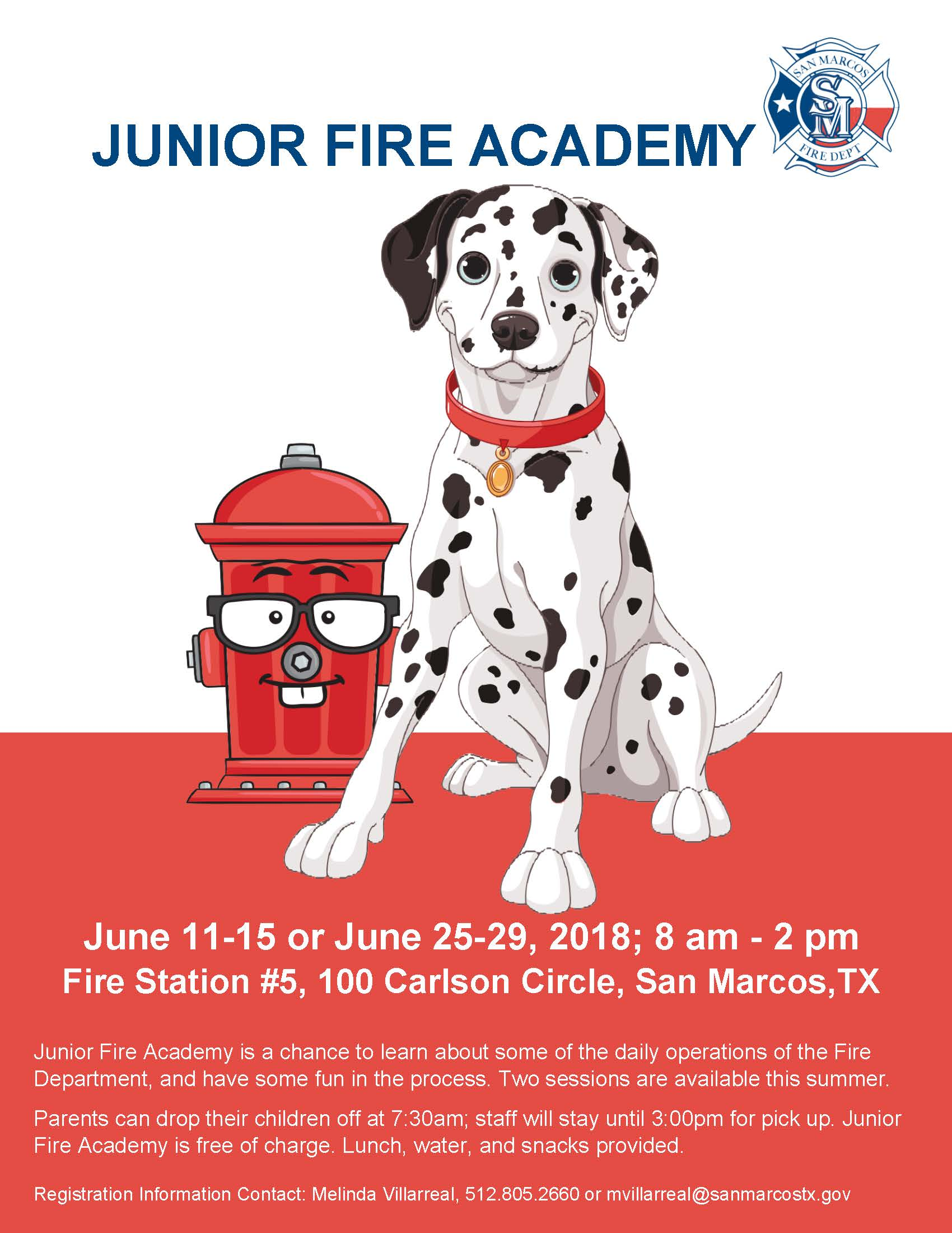 Jr Fire Academy Flyer 2018