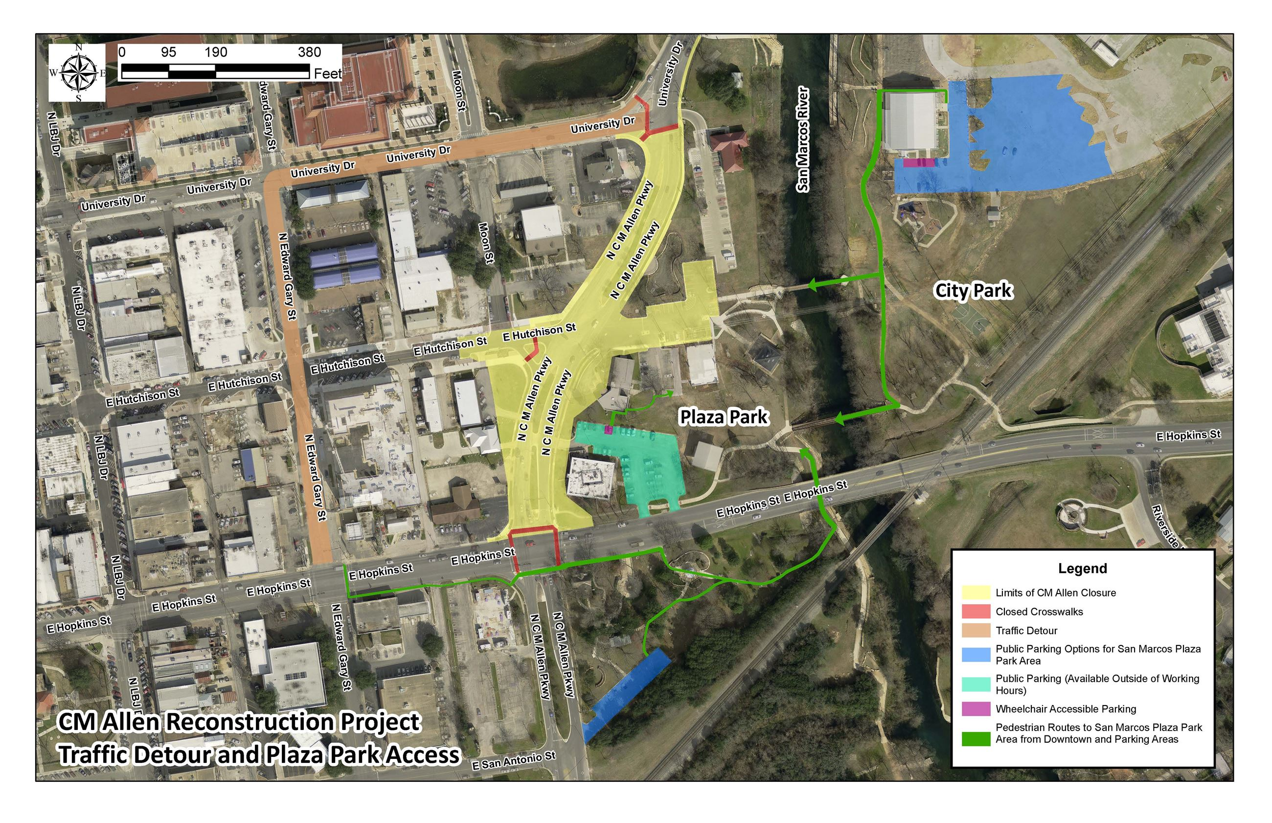 CM Allen Traffic Detour and Park Access